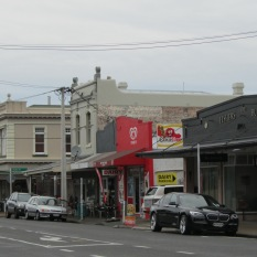 Hinemoa St in Birkenhead - the original shopping precinct just up the road from the wharf.