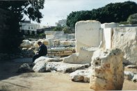 The remains of Tarxien (and a rather 'over it' boyfriend)...