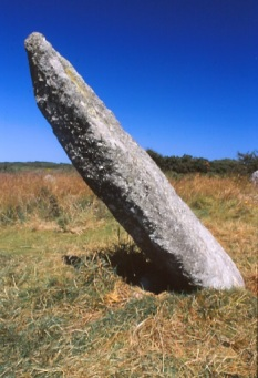 The central stone with its deliberate lean.