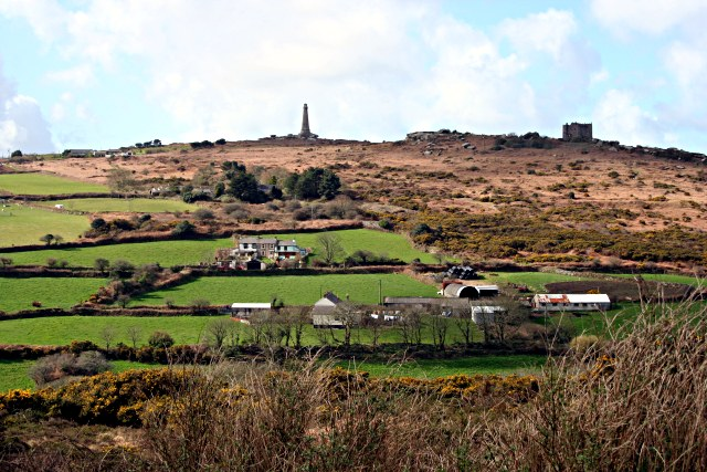 carn_brea_hill_from_the_east_-_geograph-org-uk_-_353749