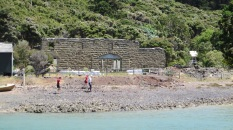 The remains of the smelting works at Bon Accord Harbour.