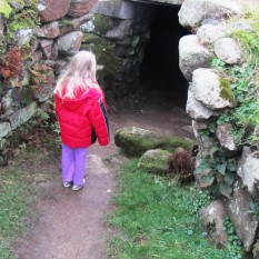 The entrance to the fogou at Carn Euny - not the original entrance.