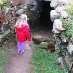 The entrance to the fogou at Carn Euny - not the original entrance.