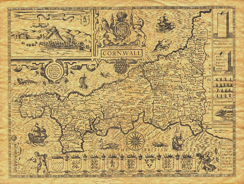 john_speed_-_map_of_cornwall_-_1614_-_001