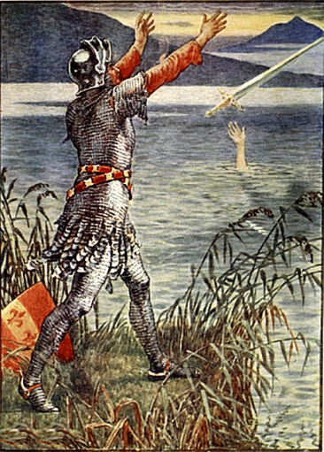 King_Arthur_Sir_Bedivere_throwing_Excalibur_into_the_lake_by_Walter_Crane