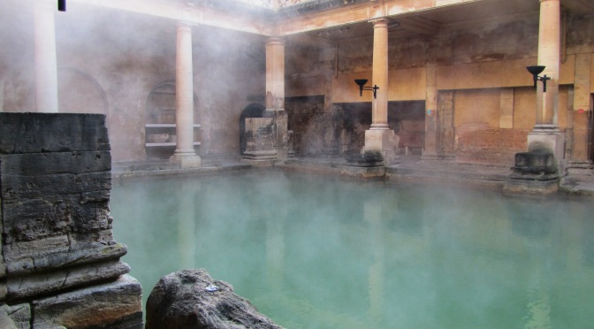 "Some Photos from Roman Baths in Bath (and why it inspired me to write ""A Roman Moon"")"